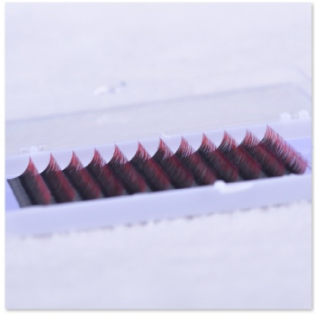 Two-tone Volume Lash Extensions Black-to-Red